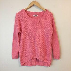 American Eagle AEO Pink Marled Sweater